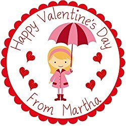Personalized Party Labels, Favors Stickers, Valentine's Day Tags