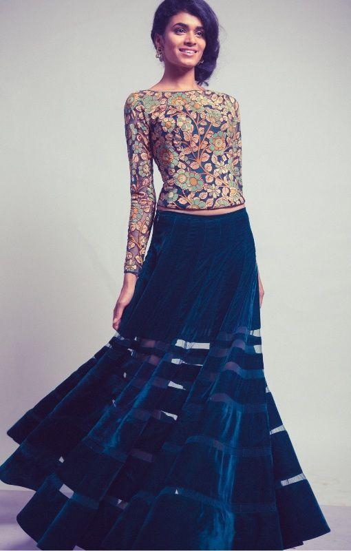 designer neeta lullakalamkari paintings on dresses - Google Search