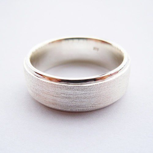 handmade 75mm mens sterling silver wedding band