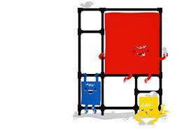 Resultado de imagen para piet mondrian composition with red blue and yellow
