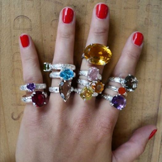 For the gal who loves a little sparkle! Lost & Found Cocktail rings by #slashpiledesigns!! These stones are all reclaimed from jewellery that was melted down for the metal. They make for the perfect cocktail ring! Perfect for a gift for a friend or for yourself! #giftguide #cocktailring #bling #stones #reclaimed #slashpiledesigns