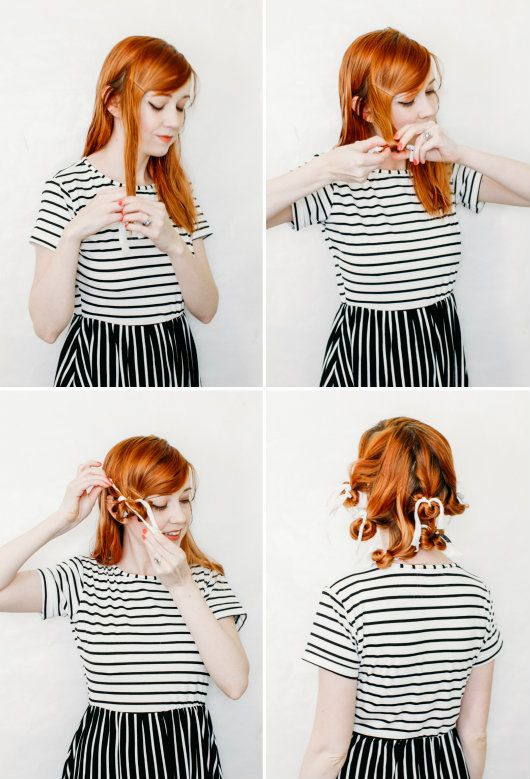 The Clothes Horse: Beauty: Rag Curls