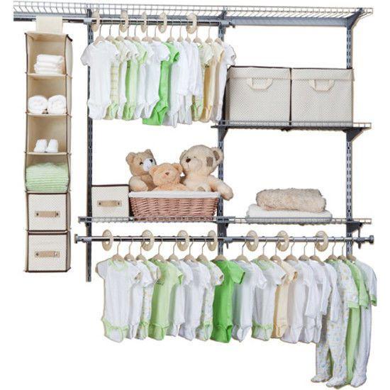 Children 48-Pcs Nursery Storage Set Baby Closet Organizer Bedroom Beige New #Delta