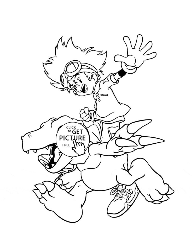 Manga Digimon Coloring Page For Kids Cartoon Pages Printables Free