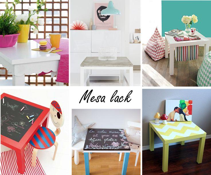 6 ideas para personalizar la mesa lack de ikea mesas - Mesa lack ikea medidas ...