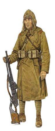 Soldado de 1ª Clase, Cuerpo protector de trenes, Manchukuo, 1932, Japanese army, pin by Paolo Marzioli