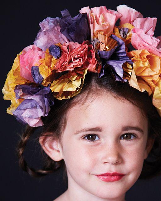 Paper Flower Crown -  #sweetpaul #Halloween
