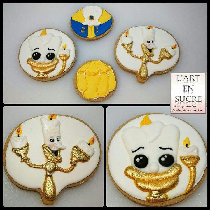 Biscuits sur le thème de la belle et la bête