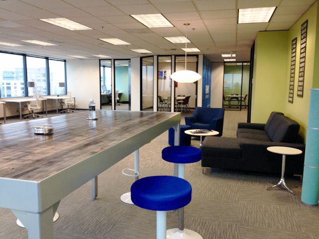 Re max on the lake bellevue office modern open for Office design open concept