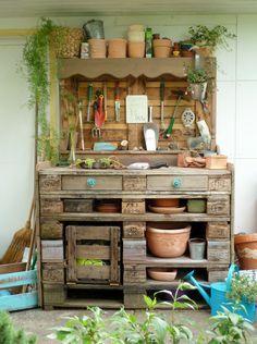 Pflanztisch aus Paletten, DIY(Diy Garden Pallet)