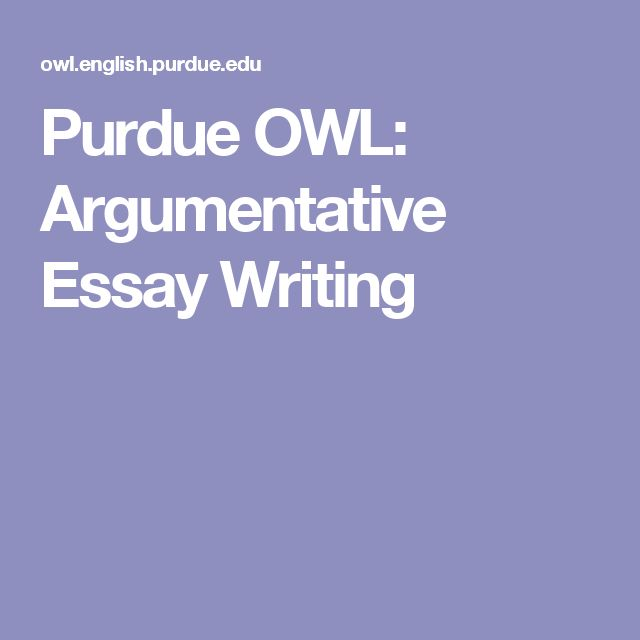 Welcome to the Purdue OWL Essay Sample