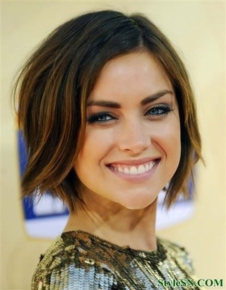 Beautiful Short Wavy Bob Hairstyle - this would probably grow out really well!