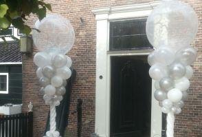 Luxe bruiloft pilaren entree
