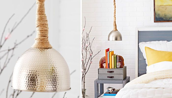 Image result for rope pendant light