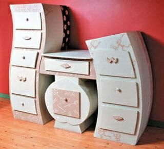how to make cardboard furniture. funky painted furniture how to make cardboard