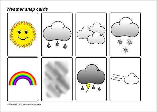 Weather snap cards (SB7071) - SparkleBox