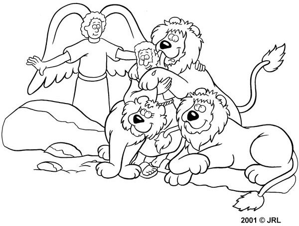 daniel and the lions den coloring page - Bible Story Coloring Pages Daniel