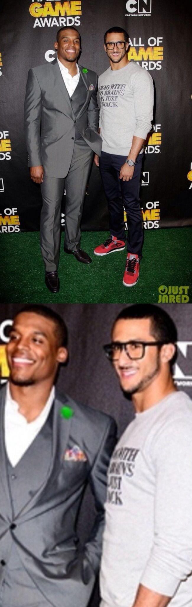 Colin Kaepernick & cam newton. His Jordan's tho.