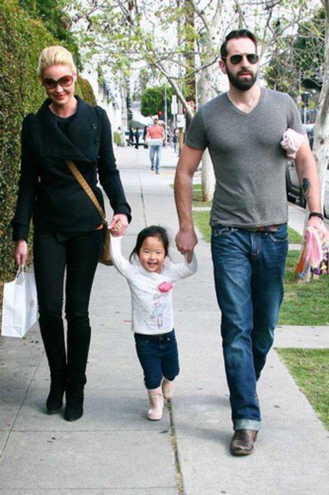 Katherine Heigl (actress), Josh Kelley (singer) and Naleigh (Nancy Leigh)