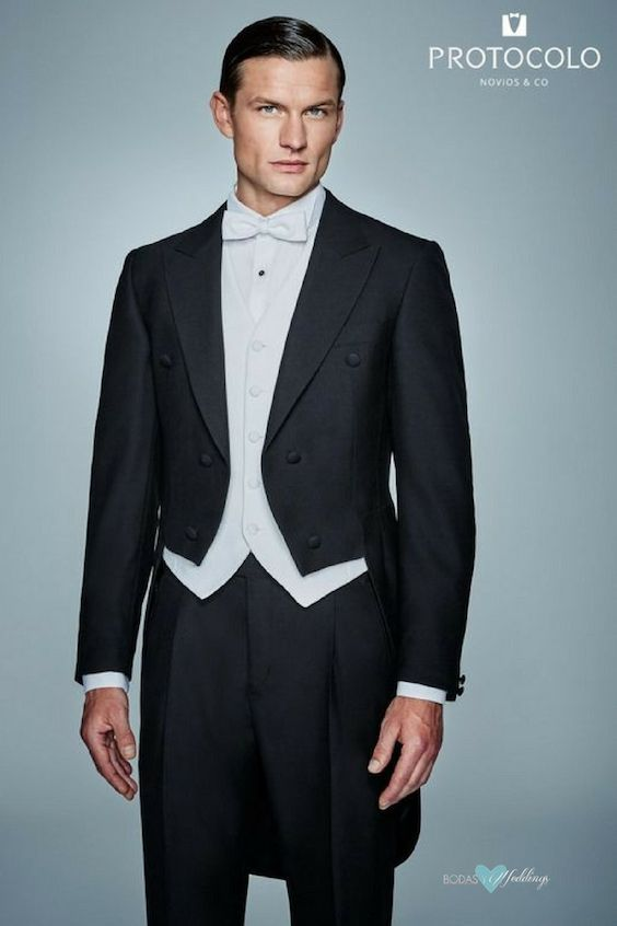 Evening Tail Suit Or Tailcoat The Most Formal Of Types Wedding Suits For Grooms By Protocolo