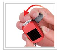 Keesoul - Mini Keychain,Solar Torch,Solar Flashlight,Solar gift hot,Set gift,Small promotional gift  2 LEDs lighting Charged by solar Used as a key chain Cranking for power generation Controlled by slide switch, long lifespan Handsome appearance, mini size and convenient to use