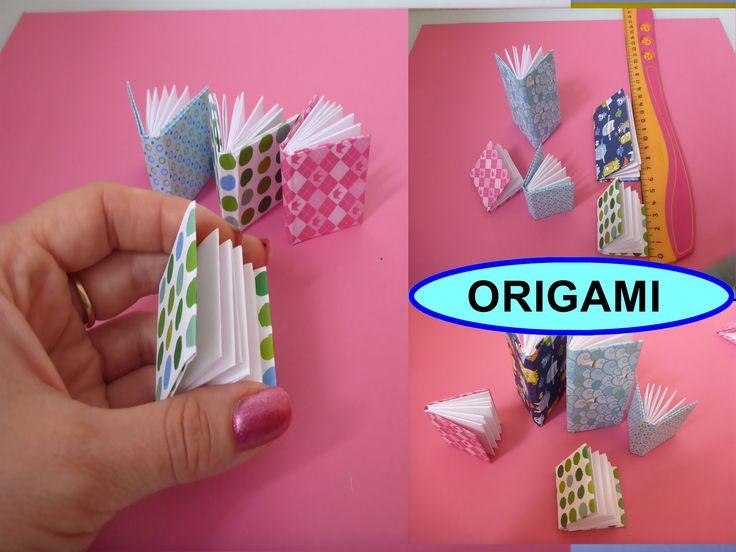 DIY Origami 3D Notizbuch falten, Mini - Buch einfache deutsche Anleitung, Geschenk zum Muttertag, Valentinstag, Geburtstag. Anleitungsvideo für Papier - Deko...