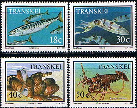 Transkei 1989 Seafood Set Fine Mint