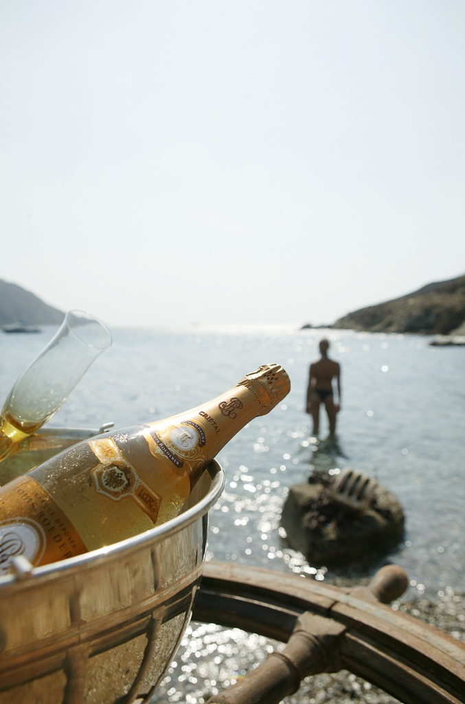 Cristal on a private beach