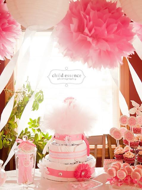 Diaper Cake and Hanging Arrangements :)