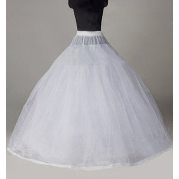 8 Layer Tulle Hoopless Bridal Petticoat Ball Gown Underskirt Crinoline... ❤ liked on Polyvore featuring intimates
