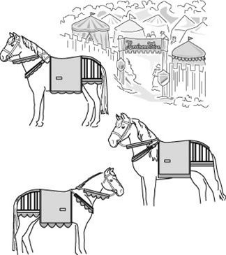 Medieval Horse Costume Pattern (With Breeching)