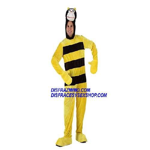 Tu mejor disfraz de abejorro hombre xl.Con este disfraz de abejorro seras un incrible animal con su mono de antelina y en tus fiestas seras un abejorro muy animado y un animal muy colorido en tus fiestas de carnaval y tus fiestas de disfraces.
