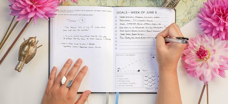 The Volt notebook for 2017, by www.inkandvolt.com. Love the goal setting and journaling within the planner!
