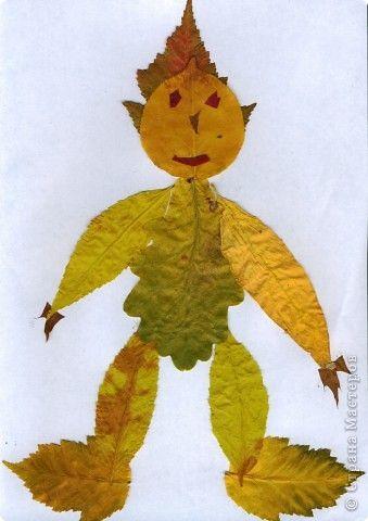 Поделка изделие Аппликация Работы из листьев Листья фото 2