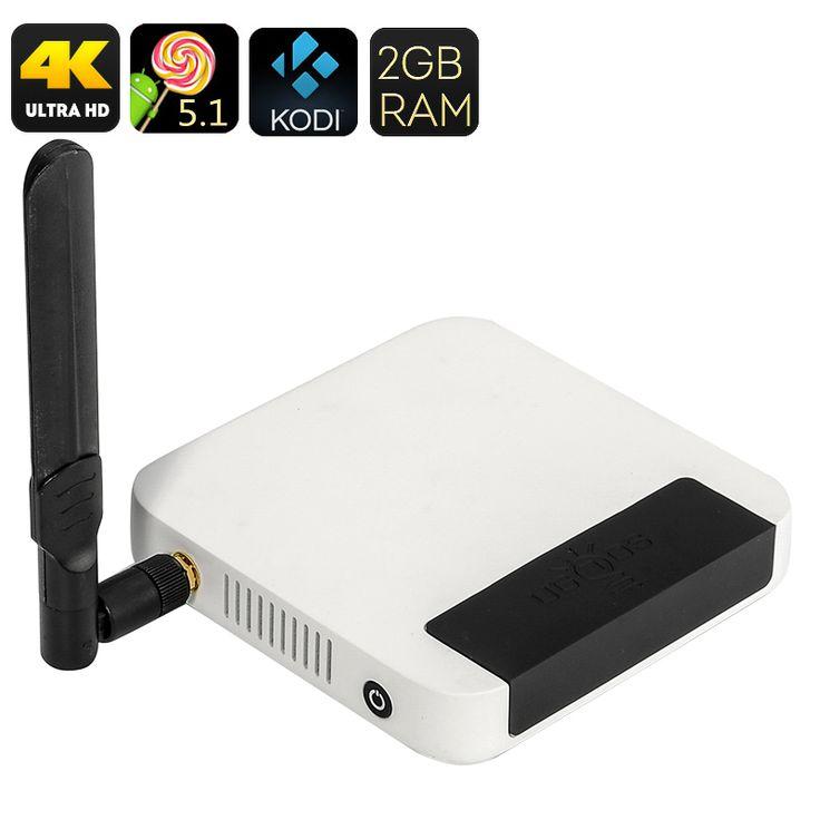 Image of UGOOS UT4 Android TV Box - UHD 4K, Kodi 16, Android 5.1, Rockchip 64BIT Octa Core CPU, 2GB RAM