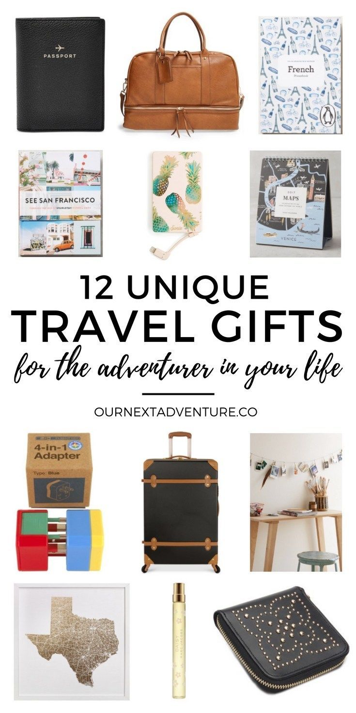 12 unique gift ideas for travel lovers. // Traveler Gift Guide   Holidays   Christmas Gift Ideas