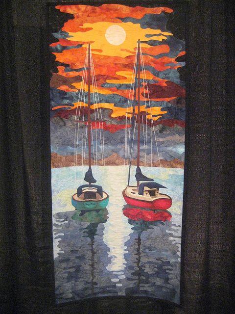 Sunset or Sunrise?  2011 Houston Quilt Festival.  Photo by zephrene [Keri], via Flickr