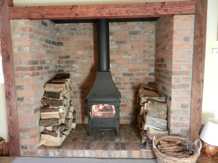 Inglenook fireplace reclaimed brick tile brick fire - Tiling a brick fireplace ...