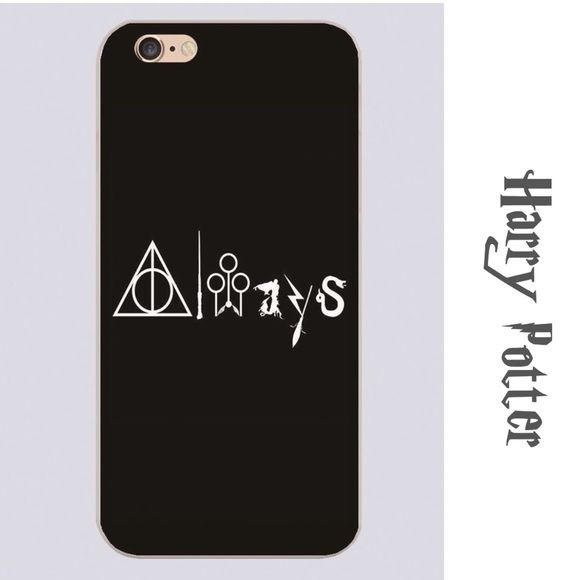 """⚡️Harry Potter iPhone Case 2 For $25⚡️Harry Potter iPhone Case ~ """"Always"""" ~ 6/6S & 6 Plus ~ Clear Hard Plastic ~ Let me know what size you want and I'll make a listing Trades or Holds ✅ Use offer option ❤️ Bundles Accessories Phone Cases"""