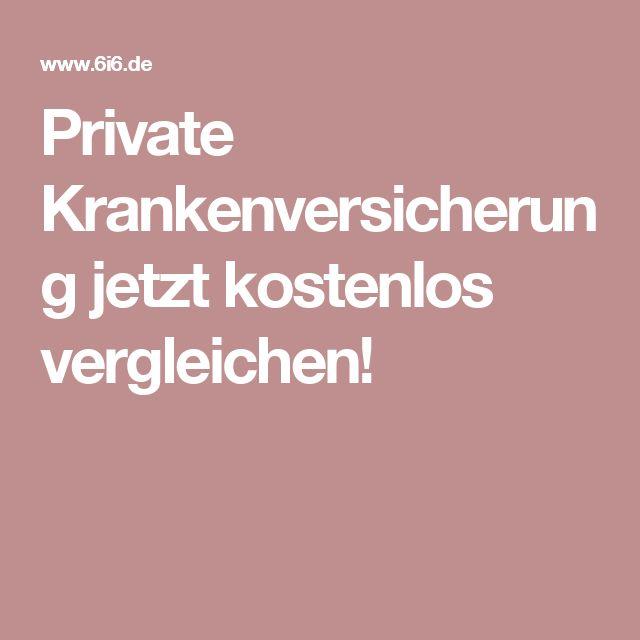 Private Krankenversicherung jetzt kostenlos vergleichen!