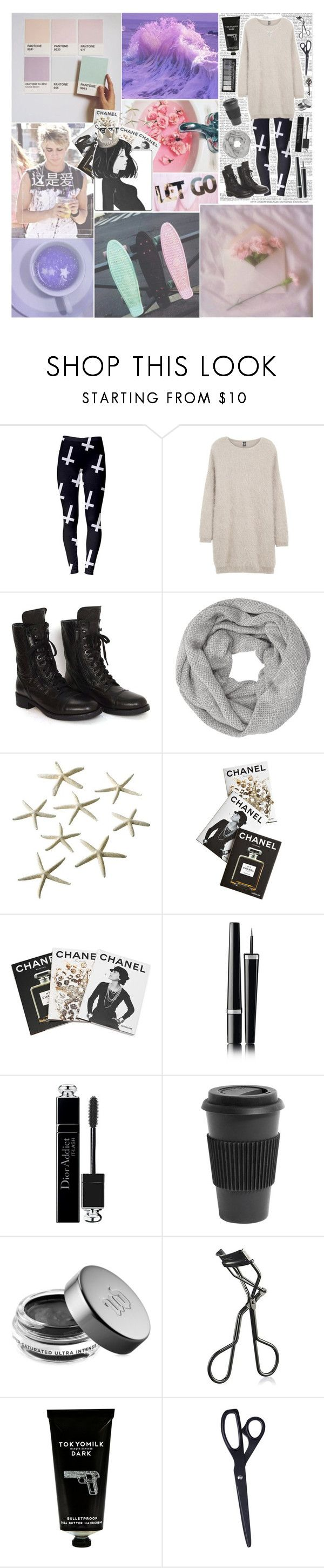 """""""LET GO"""" by dalton-rapattoni-outfits-imagine ❤ liked on Polyvore featuring Eleventy, Chanel, John Lewis, Assouline Publishing, Christian Dior, Homage, Urban Decay, MAC Cosmetics, TokyoMilk and HAY"""