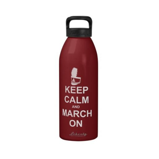 Keep Calm 32 oz water bottle - Personalize it!