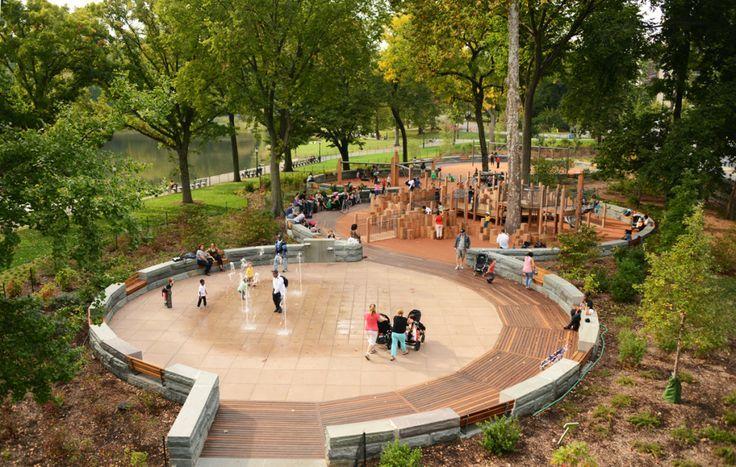 Circular Public Gathering Space Park Landscape