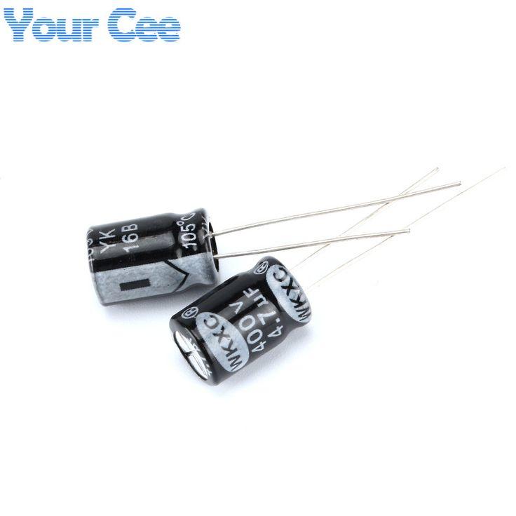 100 pcs Electrolytic Capacitors 400V 4.7UF 8X12MM  Aluminum Electrolytic Capacitor #Affiliate