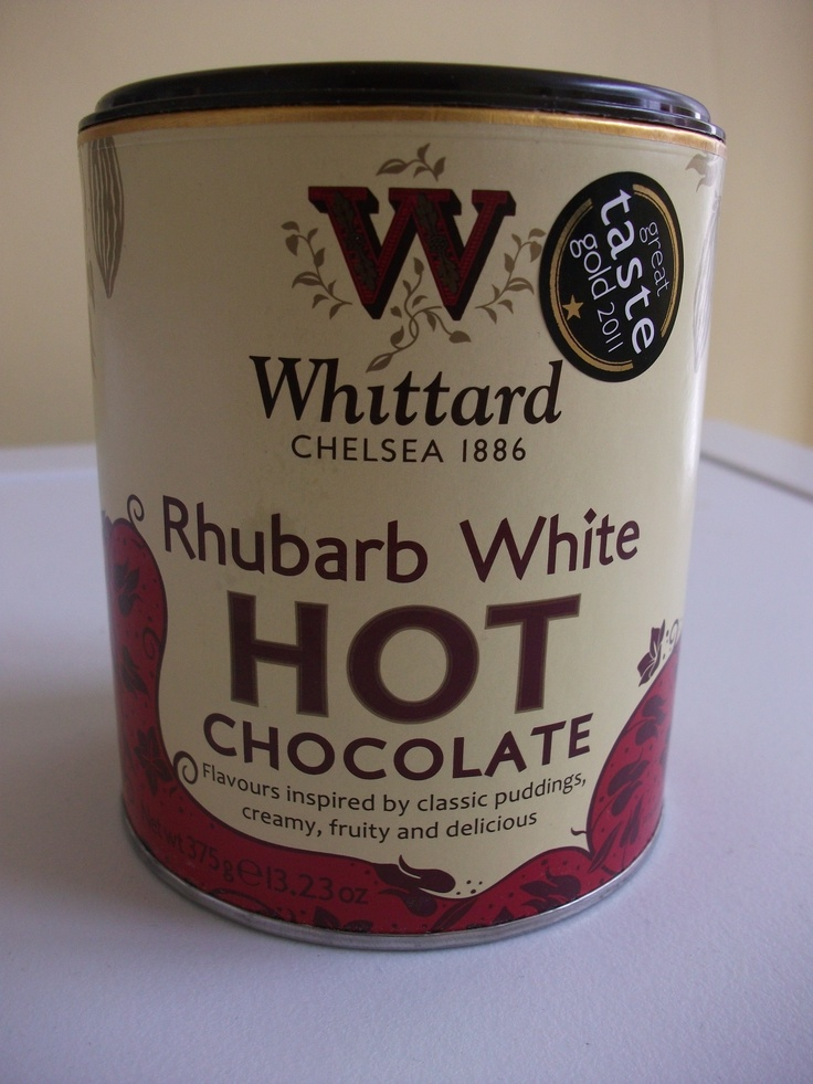 Whittard of Chelsea Rhubarb flavour white hot chocolate