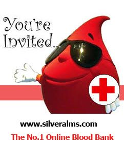 Online Blood Bank Charity Crowdfunidng Website www.silveralms.com