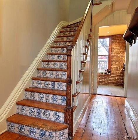 Escalier d'origine rue de Bullion 1890