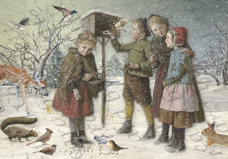 Feeding the Birds, Cards by Colette: