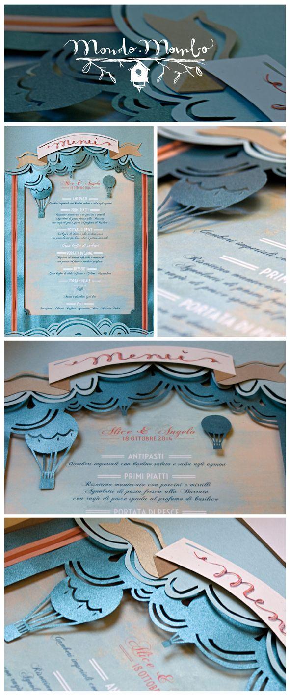 HOT AIR BALLOON wedding menù by Mondo • Mombo