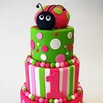 First Birthday CakeBirthday Ladybugs, Ladybug Cakes, Cake Ideas, First Birthday, Ladybugs Cake, Lady Bugs, 1St Birthday Cake, Ladybugs Birthday, Pink Cake